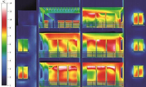Apartment Building Thermal Imaging