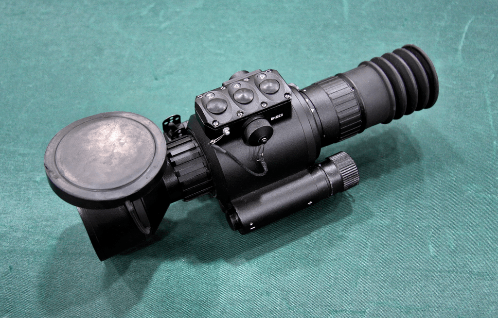 A thermal imaging scope