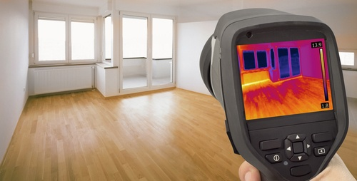 using thermal imaging to detect water leaks