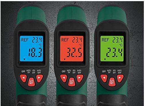 ir laser infrared digital thermometer