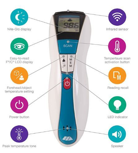 mabis rediscan infrared thermometer