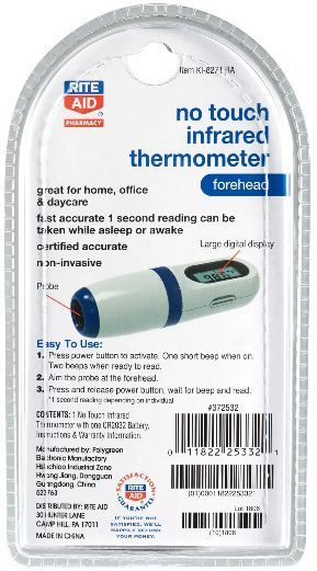 infrared no touch thermometer