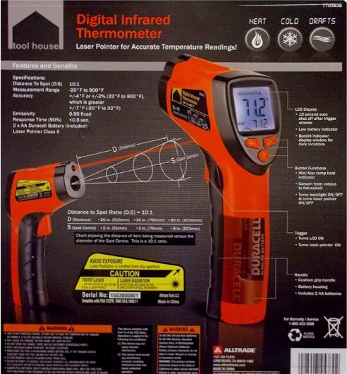 infrared kitchen thermometer