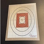rifle sight in target